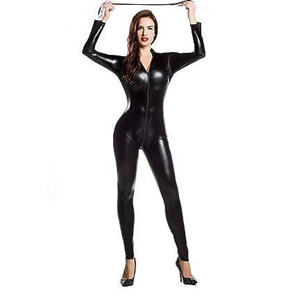 XSQR Sexy Mujer Látex Mono Ajustado Juego de Roles Etapa ...