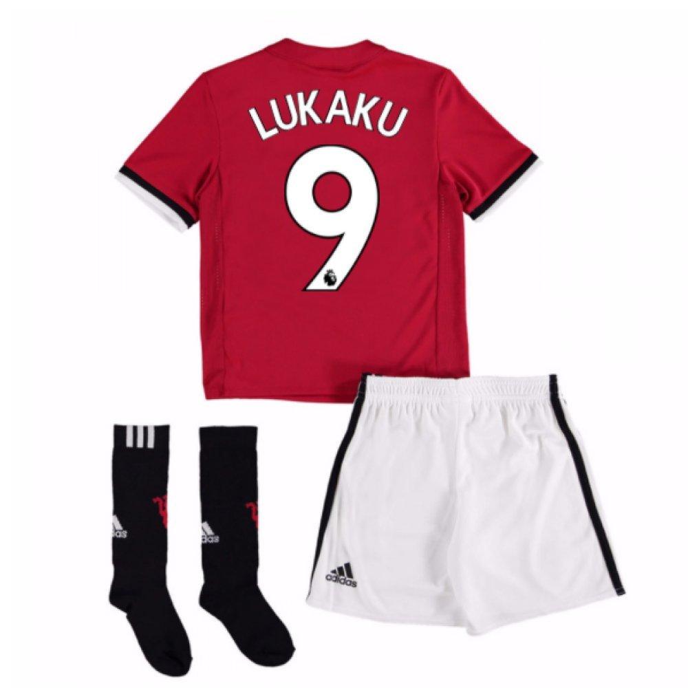UKSoccershop 2017-18 Man United Home Mini Kit (Romelu Lukaku 9)