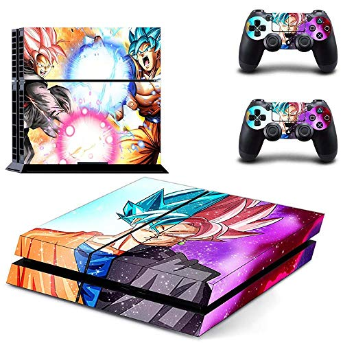 Playstation 4 Skin Set - Dragonball Z HD Printing Vinyl Skin Cover Protective for PS4 Console and 2 PS4 Controller by Mr Wonderful Skin