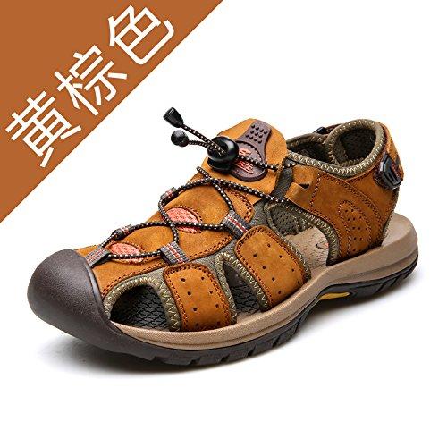 Xing Lin Sandalias De Hombre Resorte Exterior En La Playa Del Hombre Zapatos Zapatos De Hombre Casual Zapatos De Hombre Sandalias De Hombre Zapatos De Hombre De Línea Light Brown