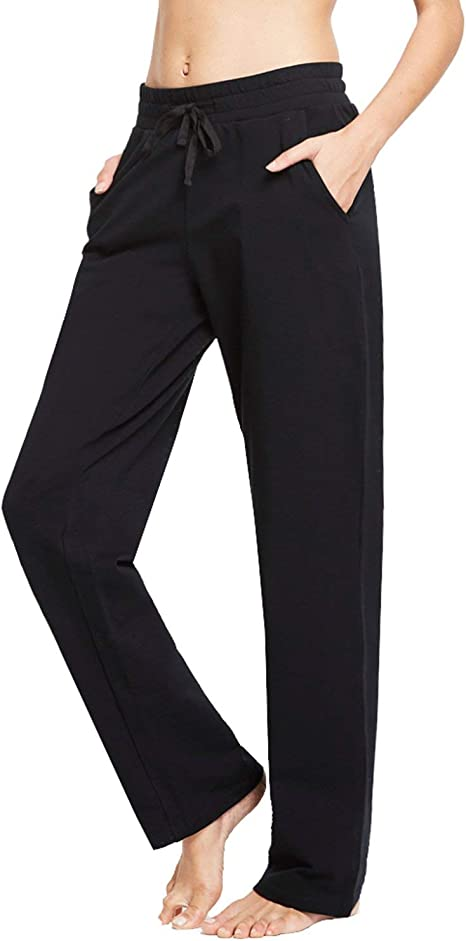 Armfre Bottom Womens Loose Jogger Pants Soft Breathable Split Elastic Waist Wide Leg Beach Baggy Pant Casual Plus Size Yoga Sweatpants Trousers