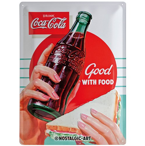 Nostalgic-Art 23234 Coca-Cola Good with Food, Cartel de ...