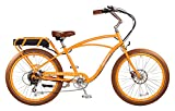 """Pedego Comfort Cruiser 26"""" Classic Orange with Brown Balloon Package 36V 10Ah"""