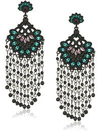 Casted Tassel Post Drop Earrings