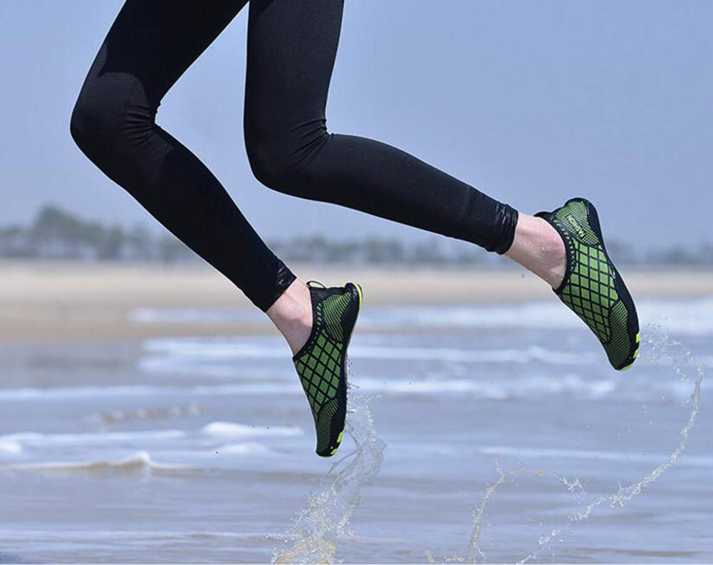 Hy Swim Shoes,2019 Summer New Barefoot Water Shoes Men Women Stretch Outdoor Wading Swim Diving Shoes Yoga Shoes,Green,39