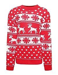 21FASHION Children Christmas Party Snowflake Rudolf Jumper