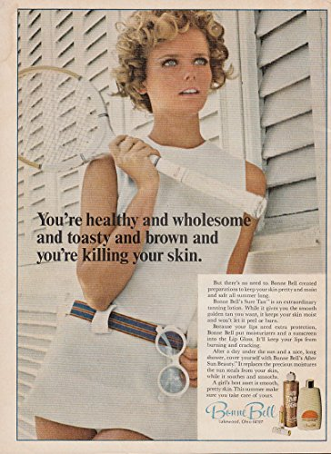 healthy-wholesome-toasty-brown-bonne-bell-sure-tan-ad-1969-cheryl-tiegs