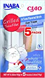 INABA Ciao Grilled Tuna Fillets in Tuna Flavored Broth Cat Treats 5 Pieces