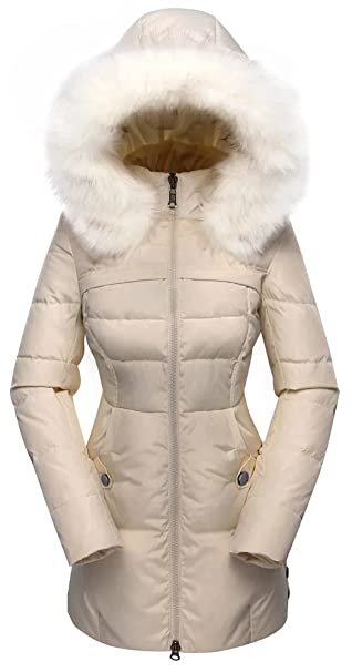 purchase cheap Sales promotion how to buy valuker Women's Down Coat with Fur Hood with 90% Down Parka Puffer Jacket