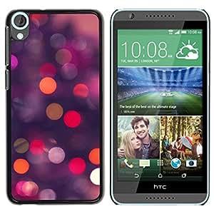 Be Good Phone Accessory // Dura Cáscara cubierta Protectora Caso Carcasa Funda de Protección para HTC Desire 820 // Glitter Bling Purple Pink Night Lights