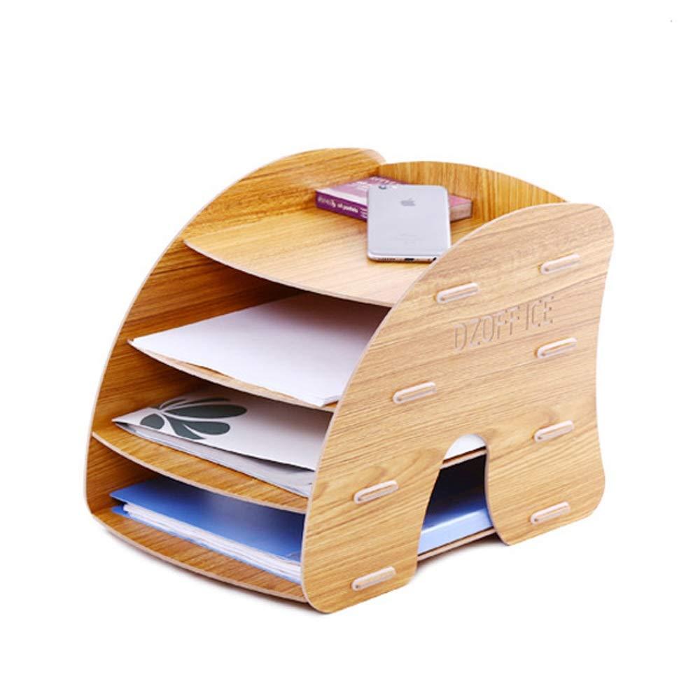 LQQ DIY-Dateihalter, Umweltfreundliches Gummi  Holz, Runde Platte, Keine Handverletzung, Niedriges Design, Schön, Feuchtigkeitsfest, Feste InsGrößetion (Farbe   Maple) B07QDBCMNH | Export