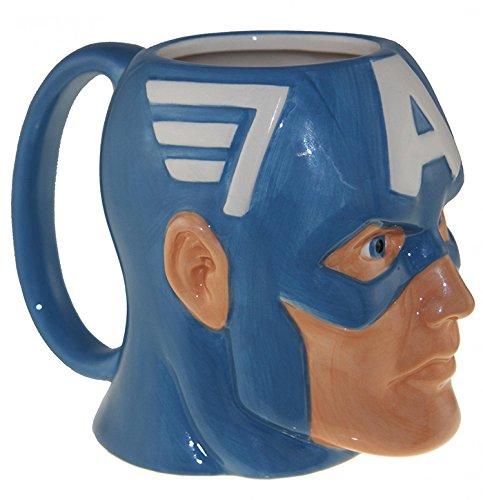 Marvel's Captain America Molded Coffee Mug - Officially Licensed