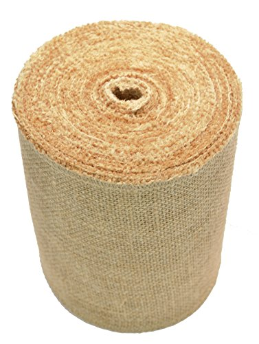 Firefly Craft Burlap Ribbon NO FRAY Fabric, 6 Inches by 20 yards by Firefly Craft