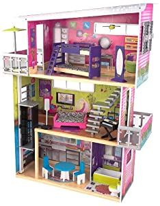 Amazoncom KidKraft Modern Mansion Dollhouse with Lights and