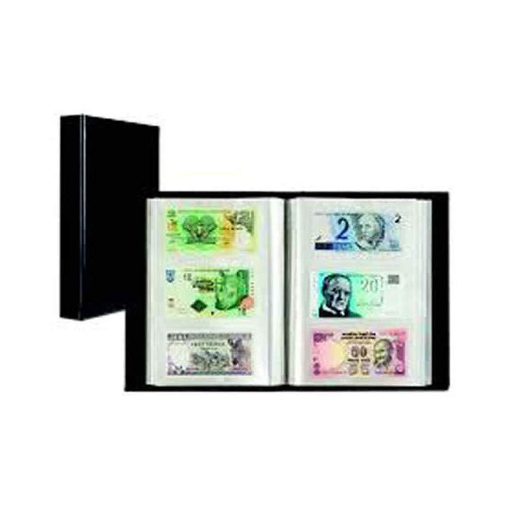 Álbum para 300 billetes, negro, con 100 resistentes fundas firmemente encuadernadas product image