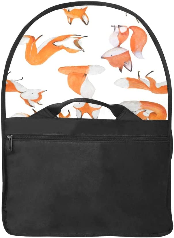 Laptop Bag Seamless with Cute Watercolor Fox Multi-Functional Woman Ladies Bag Fit for 15 Inch Computer Notebook MacBook