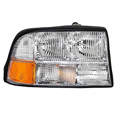 Passengers Headlight Headlamp Replacement for GMC Oldsmobile Pickup Truck SUV 16526228