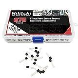 Hilitchi 675-Piece 15 Values 2N2222-S9018 NPN PNP
