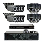 GW Security 5MP (2592x1920p) 16Ch NVR Home Security Camera System - HD 1920p 2.8-12mm Varifocal Zoom Weatherproof (10) Bullet and (6) Dome PoE IP Camera - 5 Megapixel (3,000,000 more pixel than 1080P)