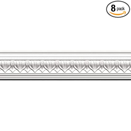 Amazon com: Focal Point 23125 Acropolis Crown Moulding 4 1/8-Inch by