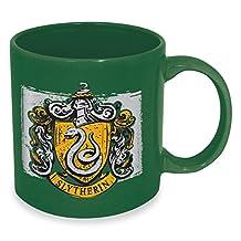 ICUP Harry Potter Slytherin Crest Ceramic Mug, 20 oz, Black
