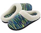 RockDove Women's Plush Woolen Memory Foam Slippers, Indoor Slip On House Shoes 9-10