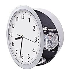 Creative Novelty Clock Safe Hidden Wall Secre - with Hidden Container Box For Money and Jewelry Storage - Modern Clock With Hidden Compartment