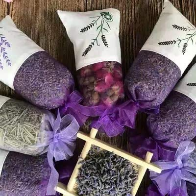 VU ANH TUAN Store Dried Lavender Buds Natural Dried Petal Rose Jasmine Lavender Soothe The Mind Help Sleeping Bedroom Perfume Bag Home Living Room Closet Dresser by VU ANH TUAN Store