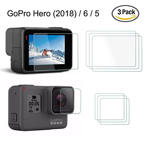Screen Protector for GoPro Hero 5 , YSSHUI 3 Pack  Anti-