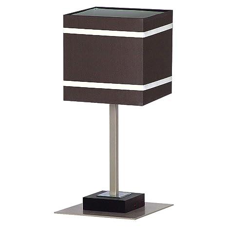 Lámpara de mesa en color marrón estilo Bauhaus Cromado 1 x ...
