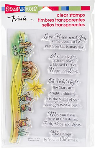 STAMPENDOUS Blessed Nativity Clear Stamp Set - Nativity Cling Stamp