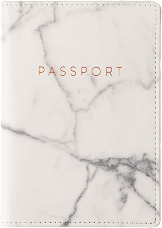 White Gold Marble Multi-purpose Travel Passport Set With Storage Bag Leather Passport Holder Passport Holder With Passport Holder Travel Wallet