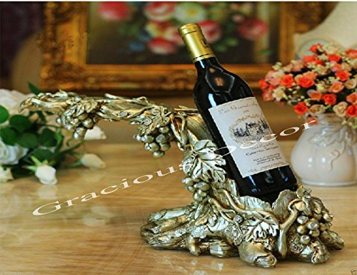 Tabletop Wine Bottle Holder Grape Vine Decorative Luxury Wine Rack Center Piece (Bottle Vine Holder)