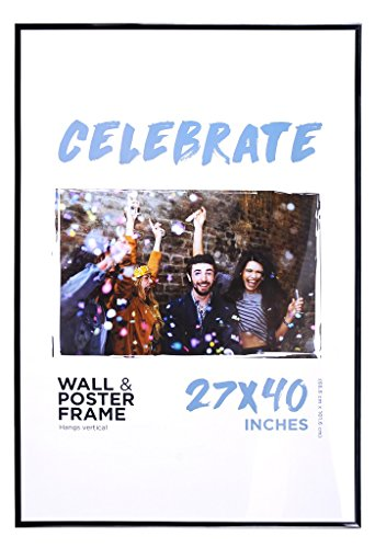 Poster Art House 27x40 MOVIE POSTER FRAME Black Edges BASIC EVERDAY FRAME