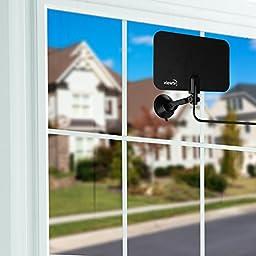 ViewTV Flat HD Digital Indoor TV Antenna 2 Pack Bundle - 25 Miles Range
