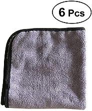 Vosarea 6PCS Drying Towel Cleaning Towel Wash Cloth Car Window Cleaning Cloth Washing Fabric 40 x 40cm (Dark G