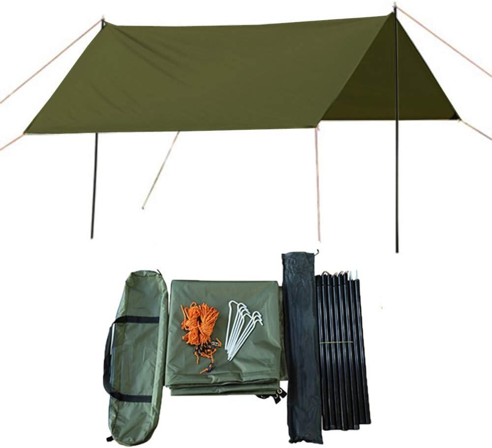 HI SUYI ultraligero camping hamaca lluvia mosca cubierta mochila supervivencia refugios tienda impermeable soldado 3 mx 3 m
