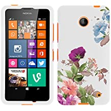 MINITURTLE, Slim Fit Graphic Design Image 2 Piece Snap On Protector Hard Phone Case Cover, Stylus Pen, and Clear Screen Protector Film for Prepaid Windows Smartphone Nokia Lumia 635 from /AT&T, /T Mobile, /MetroPCS (Promising Flowers)