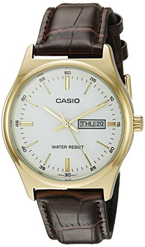 Casio Mtp v003gl 7a Quartz Genuine Leather