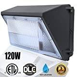 LED Dawn Wall Pack Light Fixture, 120W(500~600W HPS/HID Bulb Replacement), Daylight 5000K Wall Mount Pack Light, Waterproof Exterior/ Entrance Security Dusk-to-dawn Photocell, Led Security Lighting