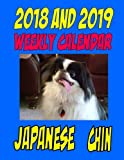 2018 and 2019 Weekly Calendar Japanese Chin: Two years Dog Calendar, Birthdays, Personal Info., and more
