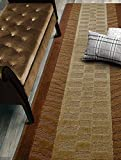 zebra decor for kitchen - Custom Size Zebra Hallway Runner Rug Slip Resistant, 26 Inch Wide x Your Choice of Length Size, Brown, 26 Inch X 4 feet
