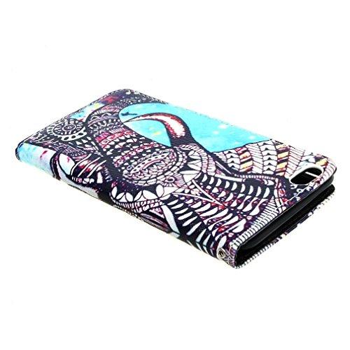 Custom Elephant Style Design Magnetisch Beutel PU Leder Stehen Flip Tasche Hülle Schale Schutzhülle Case Cover für Apple iPhone 6 Plus (5.5 inches)
