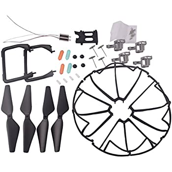 YouCute Spare Part Kit for U45 Raven U45W Blue Jay U42 U42W U42WH CW4 Blue Jay Raven Rc Quadcopter Drone Blade Gear Lading Gear Motor Frame Gear(New) (Black large kit)