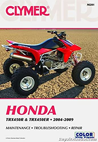 M201 2004 2009 Honda Trx450 Trx 450er Atv Repair Service Manual Rh Amazon  Com Honda Rancher ATV Manuals Honda Four Wheeler Parts
