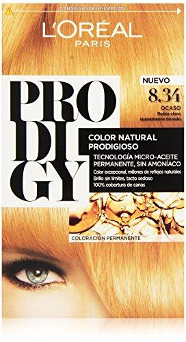 🥇 L'Oreal Paris Prodigy Coloración Sin Amoniaco 8.34 Ocaso