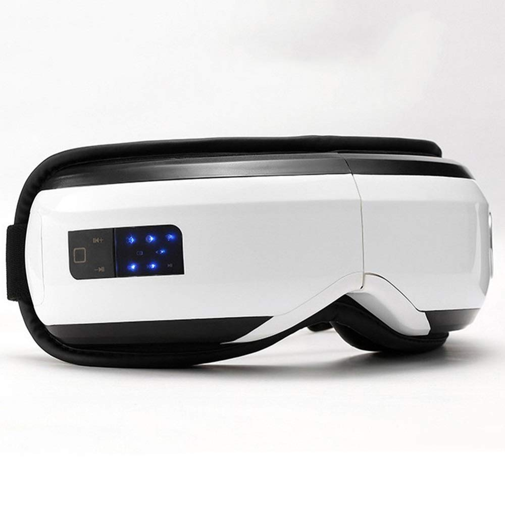 Usb電気アイマッサージャー、振動赤外線加熱療法空気圧音楽アイスパメガネヘッドストレスリリーフドロップシッピング   B07QNQBC63