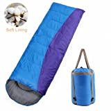 sleeping bag - Cosyzone Sleeping Bag Envelope Lightweight Waterproof for Cool Weather for Men Women Four Seasons Backpacking Camping Hiking Outdoor Activities-with Storage Bag