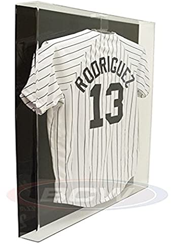 BCW Deluxe Acrylic Large Jersey Display Holder - BLACK BACK - Baseball, Football, or Hockey Jersey - Sports Memoriablia Display Case - Sportscards Collecting - Sports Memorabilia Display Case