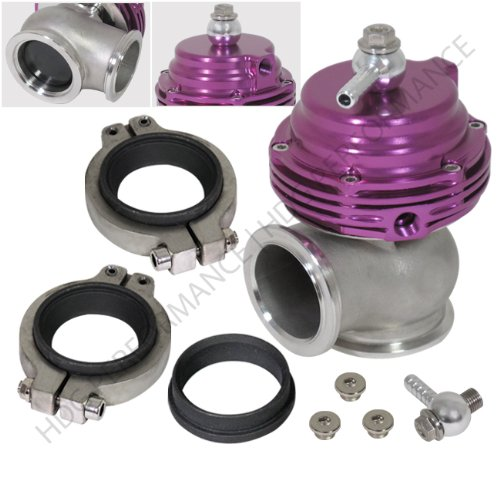 Universal Compact Aluminum Adjustable V-band JDM External Turbo Wastegate Purple (External Wastegate)